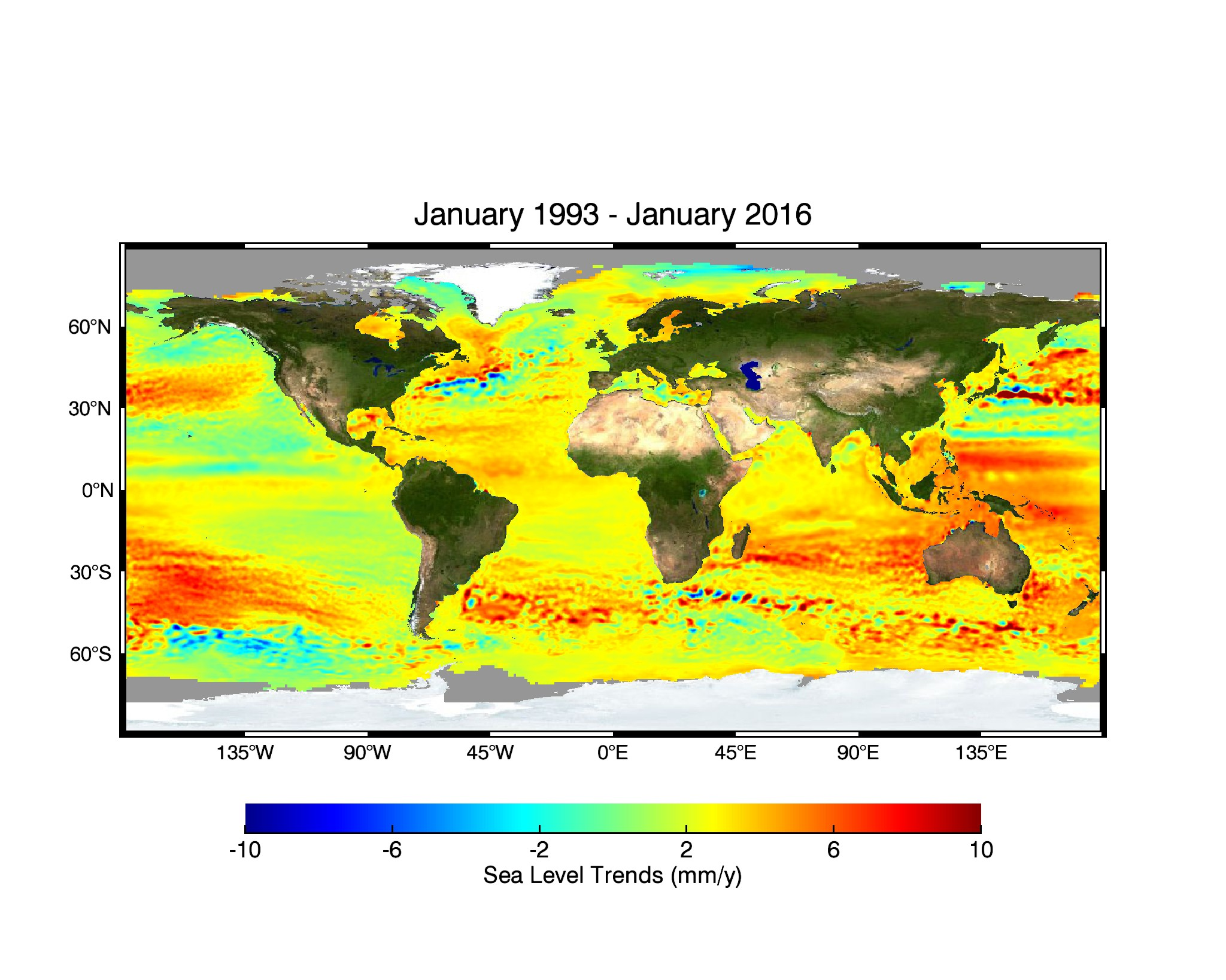Sea level trends (1993-2016)