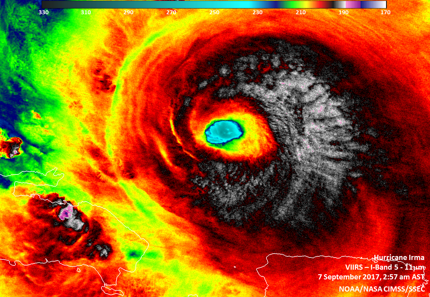 Infrared imagery from Suomi NPP