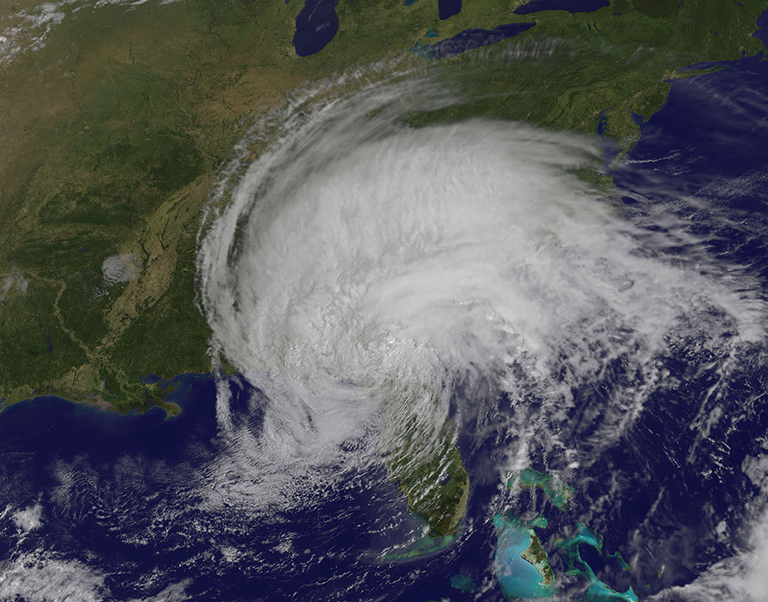 Daytime view of Tropical Storm Irma