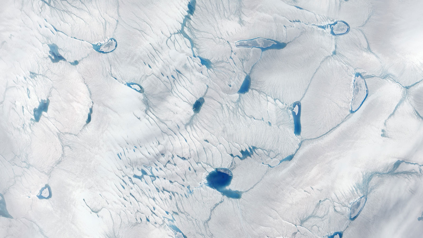 Greenland pools of meltwater