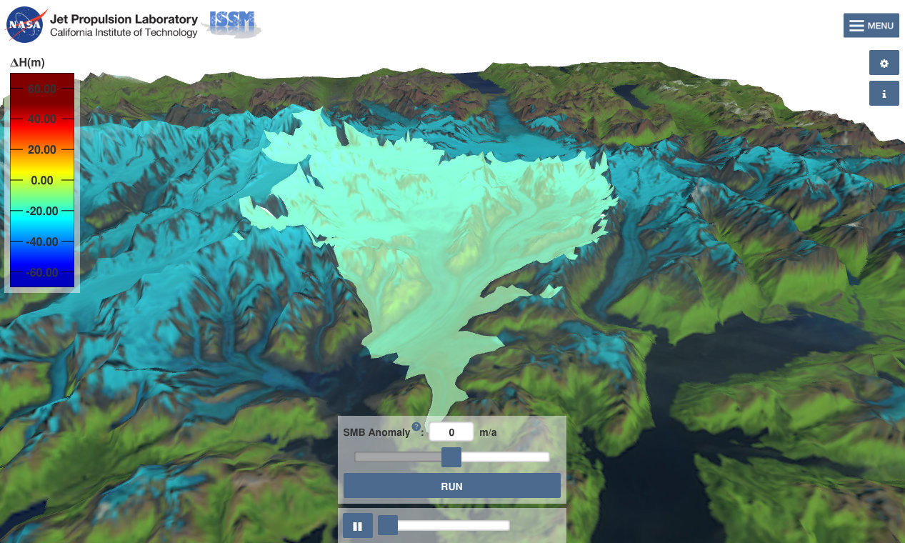 screenshot of the Virtual Earth System Laboratory tool