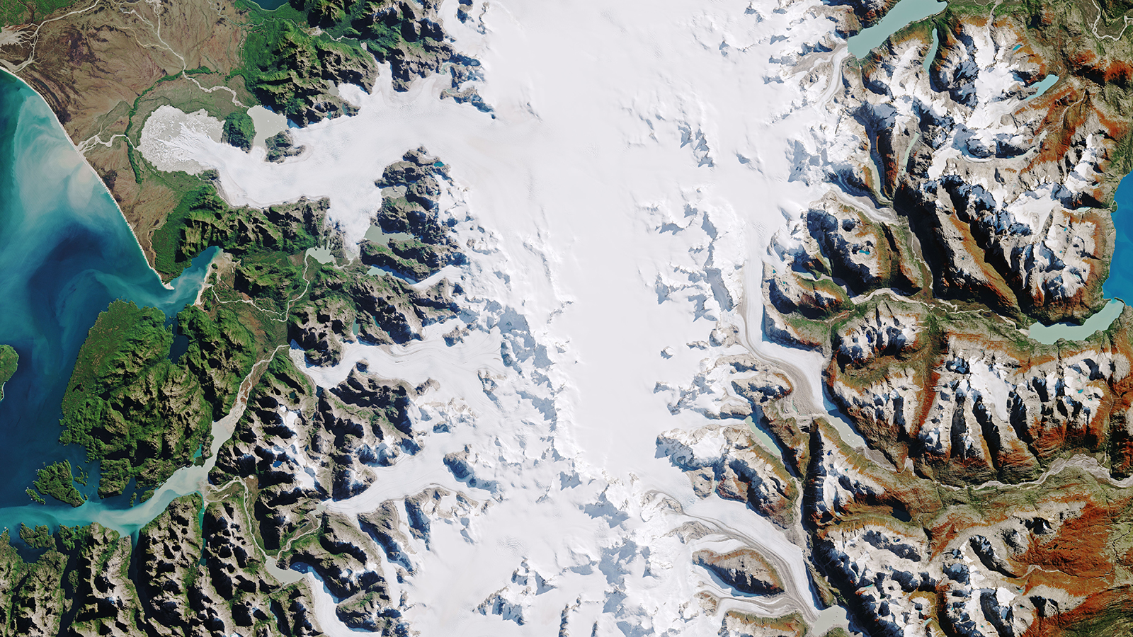 slide 2 - Melting beauty: The Patagonian icefields