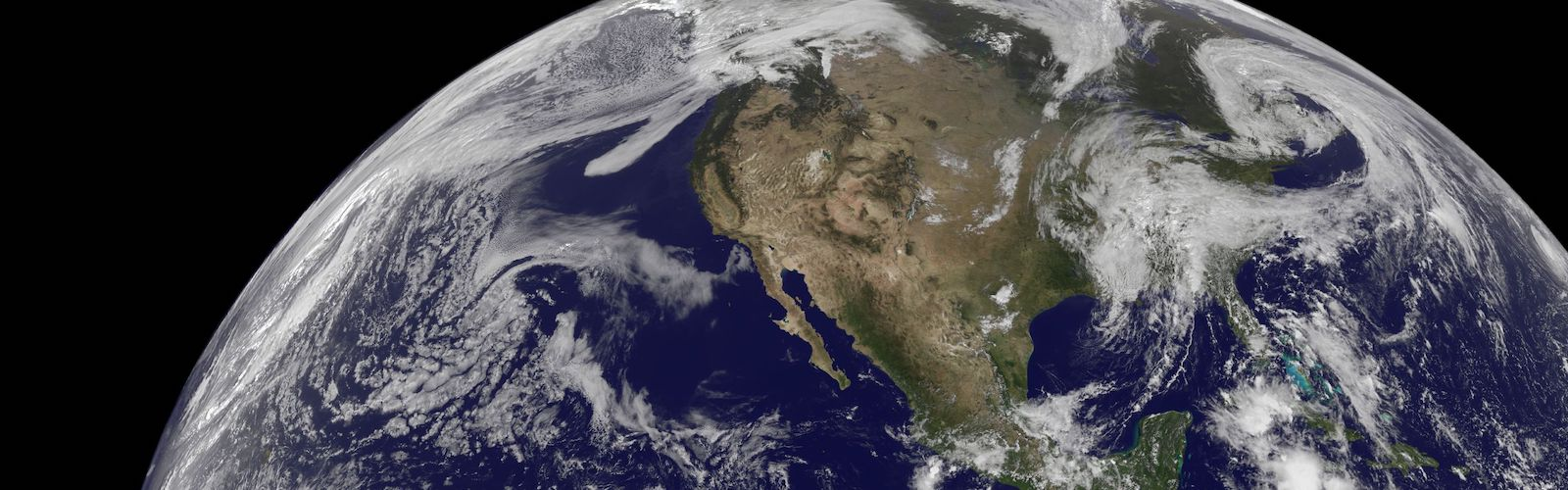 slide 1 - View of North America from space