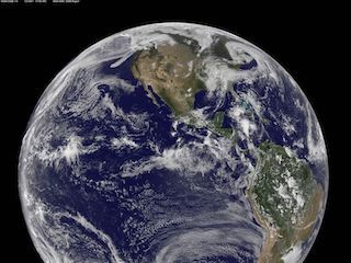 Full-disk image of Earth