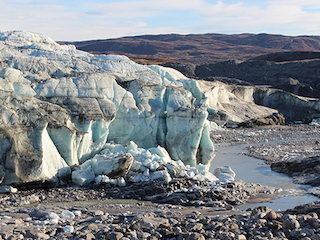 The terminus of Russell Glacier, Greenland.