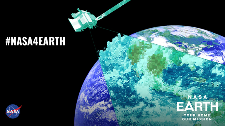 To celebrate Earth Day 2018, NASA is highlighting a variety of innovative technologies and encouraging the public to use several online tools and the hashtag #NASA4Earth. Credit: NASA