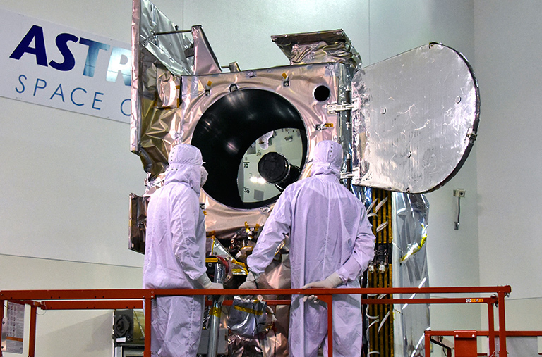 NASA's ICESat-2 spacecraft undergoing final testing at Vandenberg Air Force Base in California in preparation for launch on Sept. 15. Credit: USAF 30th Space Wing/Timonthy Trenkle