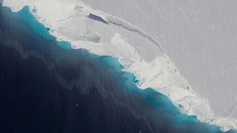 Thwaites Glacier. Credit: NASA/OIB/Jeremy Harbeck › Larger view