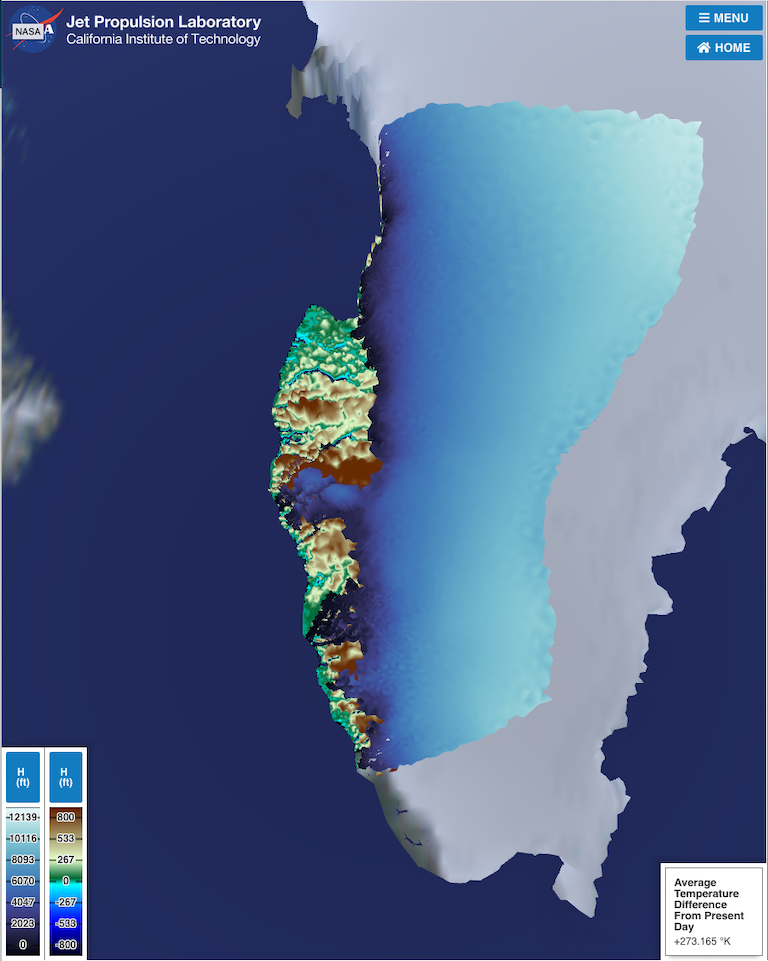 Take control of Greenland's melting ice over the past 12,000 years with a new simulation from the Virtual Earth System Laboratory at NASA-JPL. ›Enter the simulation