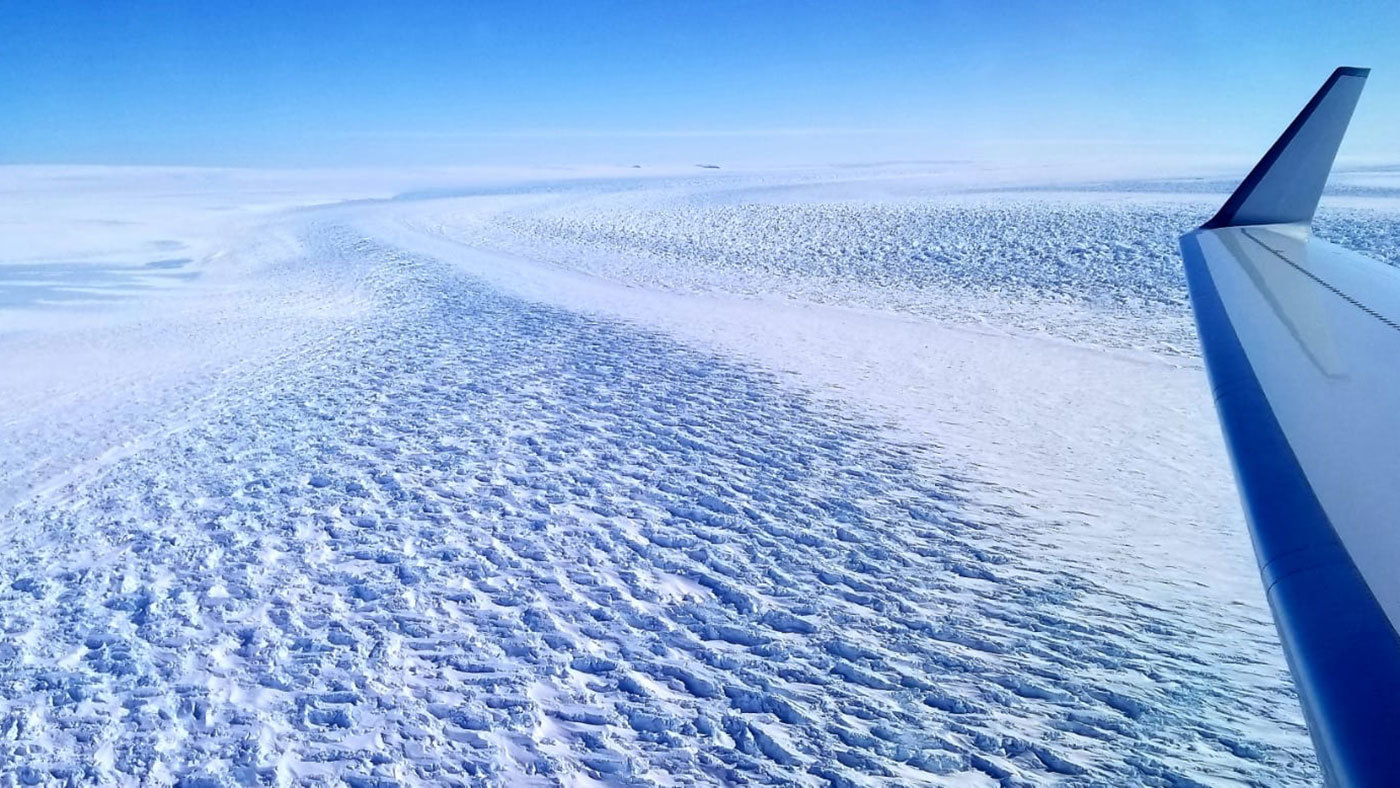 This photograph shows ripples in the surface of Denman Glacier in East Antarctica that throw shadows against the ice. The glacier is melting at a faster rate now than it was from 2003 to 2008Credit: NASA › Larger view