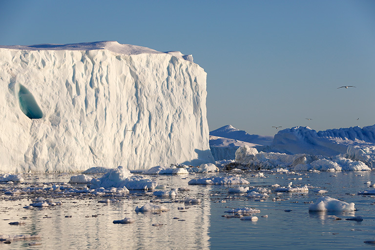 NASA's Oceans Melting Greenland field campaign is gathering data to clarify how warm ocean water is speeding the loss of Greenland's glaciers. Credit: NordForsk
