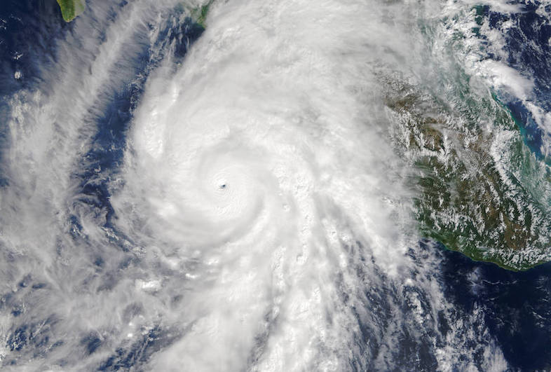 Hurricane Patricia, part of a busy 2015 hurricane season in the North Pacific driven partly by warm El Niño waters. Image credit: NASA's Earth Observatory