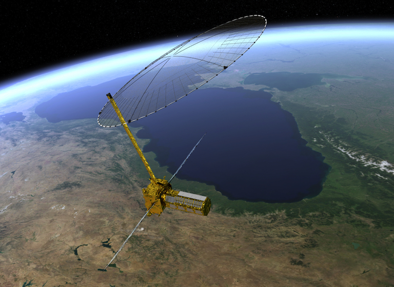 Artist's rendering of the NISAR satellite. Image credit: NASA/JPL.